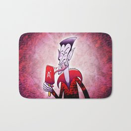 Dracula Licking a Blood Flavored Popsicle Bath Mat