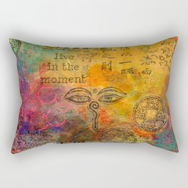 Live in the Moment Rectangular Pillow