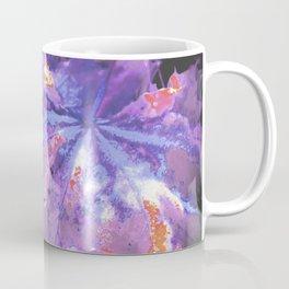 Abstract Purple Leaves Coffee Mug