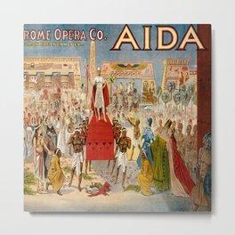 Poster of the opera aida Metal Print