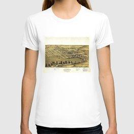 Bird's Eye View of Blairstown, Iowa (1868) T-shirt