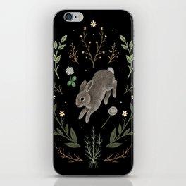 Hoppy Botanical Bunny iPhone Skin