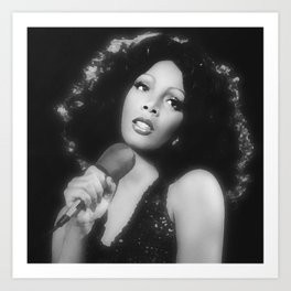 Donna Summer in Black and White Art Print