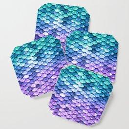 Mermaid Ombre Sparkle Teal Blue Purple Coaster