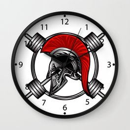 spartan fitness Wall Clock