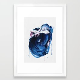 the noise of the sea Framed Art Print