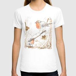 Kleine rote Vögelchen (Little red birdies) T-shirt