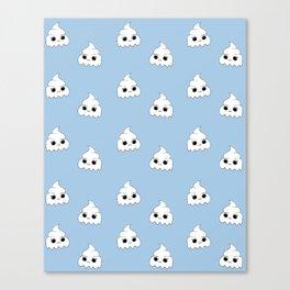 ghost poopies Canvas Print