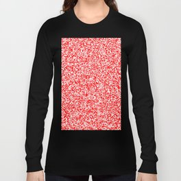 Tiny Spots - White and Red Long Sleeve T-shirt