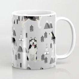 Husky siberian huskies mountains pet portrait dog dogs pet friendly dog breeds gifts Coffee Mug