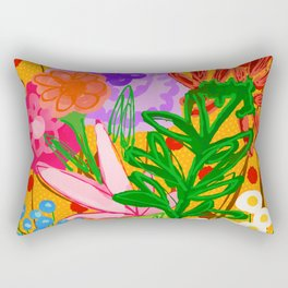 flower bomb Rectangular Pillow