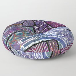 Purple Pandemonium Floor Pillow
