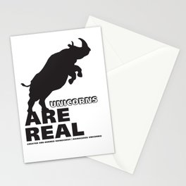 Unicorns Are Real 2 Stationery Cards