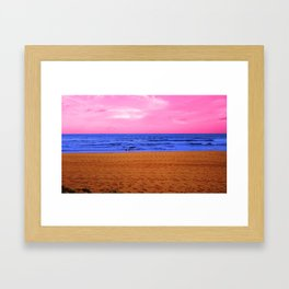 Plastic Beach Framed Art Print