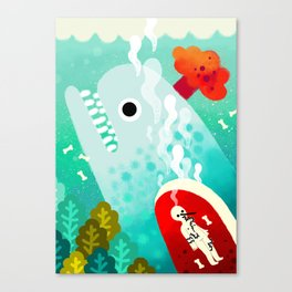 Whale and Pinocchio Canvas Print