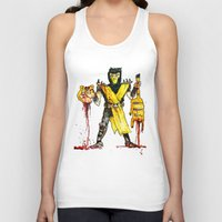 garfield Tank Tops featuring Scorpion Vs. Garfield by Max Scoville