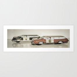 Chief&Police Car Tin Toy Art Print