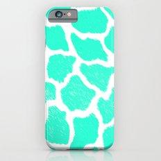 Giraffe Print Pattern Teal Mint Green Ombre iPhone 6 Slim Case