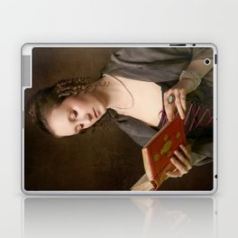 Girl with a Book Laptop & iPad Skin
