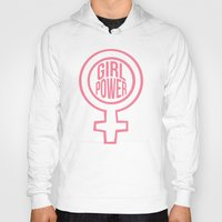girl power Hoodies featuring girl power by jupiter
