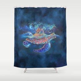 Turtle Dream Island Shower Curtain