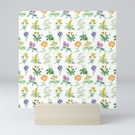 Seamless Herbs Pattern Mini Art Print