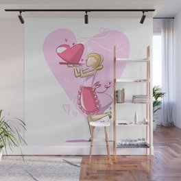 Mommy's Cooking For Valentine's Day Wall Mural