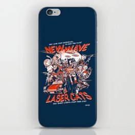 New Wave Laser Cats iPhone Skin