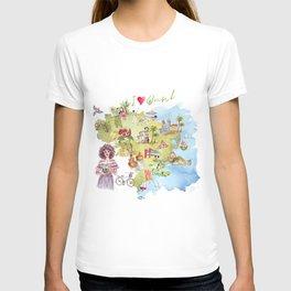 Brasil Map T-shirt