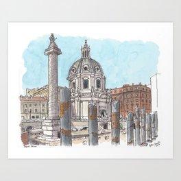 Trajan's Forum, Rome Art Print