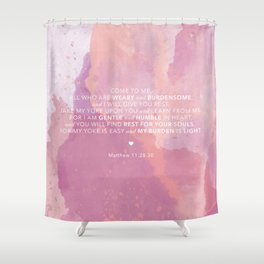 Come To Me | Pink Watercolor Reverse (for Lyndsie Brooker) Shower Curtain