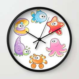 Sea Family Wall Clock