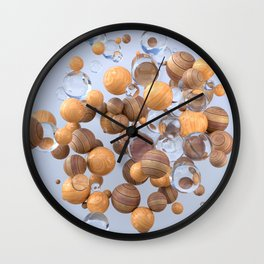 Glass & wood Wall Clock