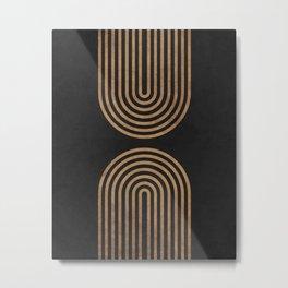 Perfect Equilibrium - Geometric Minimal - Black 2 Metal Print