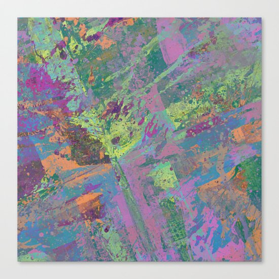 Abstract Thoughts 2 - Textured, painting Canvas Print