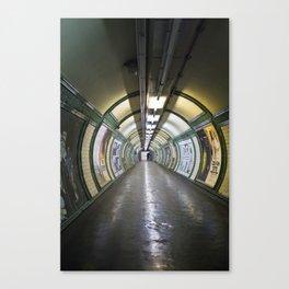 Tube Tunnel, London Canvas Print