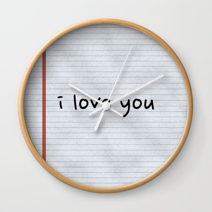 I Love You Hand Written Wall Clock
