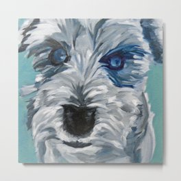 Sweet Pea Dog Portrait Metal Print