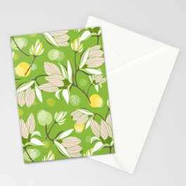 Magnolia Blossom Greenery Stationery Cards