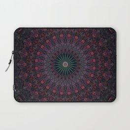 Mandala in dark red and brown tones Laptop Sleeve
