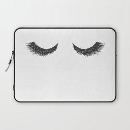 Lashes Black Glitter Mascara Laptop Sleeve