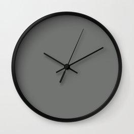 Nickel - solid color Wall Clock