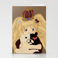 dangan ronpa Stationery Cards featuring junko and monobear by sabrina