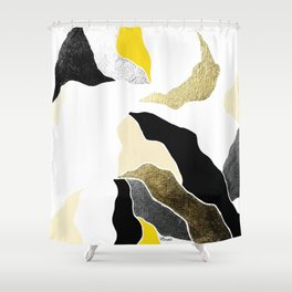 golden earth Shower Curtain