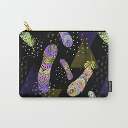 Abstract pattern with feathers 2. Carry-All Pouch