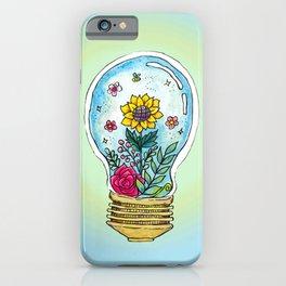 Watercolor Magic Plant Bulb iPhone Case