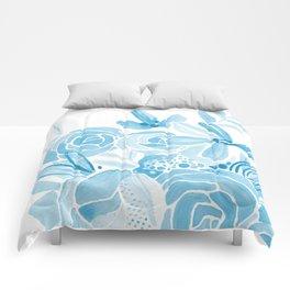 Blue Bouquet Comforters