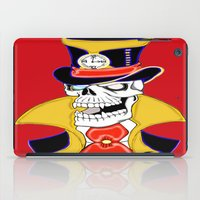 steam punk iPad Cases featuring Steam Punk Vampire Skull by J&C Creations