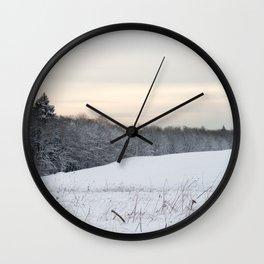 Powdered Snow Scene Wall Clock