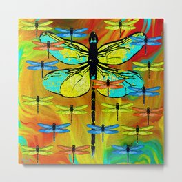 DRAGONFLY FORMATION Metal Print
